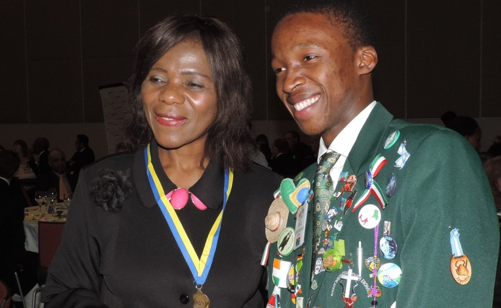 Adv. Thuli Madonsela received a Paul Harris Fellow from the Rotary Club of Durban North
