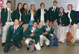 Students departing from South Africa